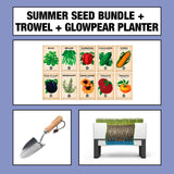Summer Seed Bundle + Trowel + Glowpear Planter