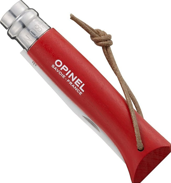 No8 Opinel Red with Sheath