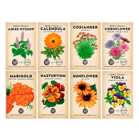 Edible Flower Heirloom Seed Bundle