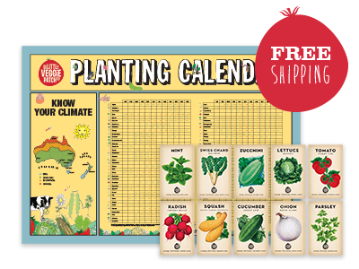 Planting Calendar + Choice of Heirloom Seed Bundle