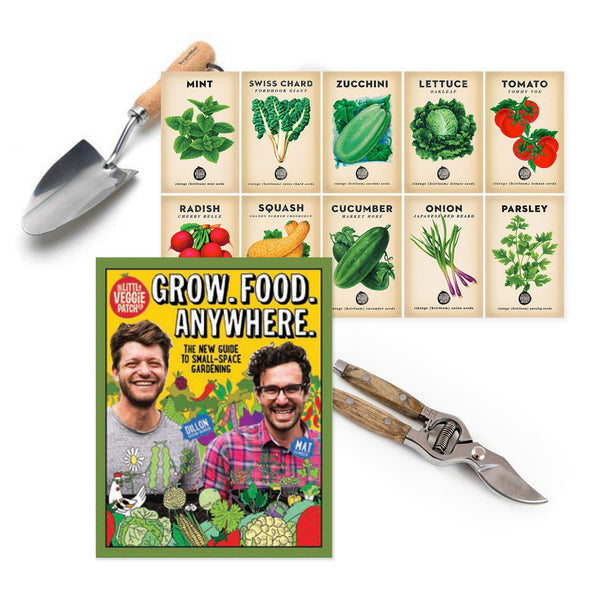 Grow.Food.Anywhere + Spring Seed Bundle + Hand Trowel + Secateurs