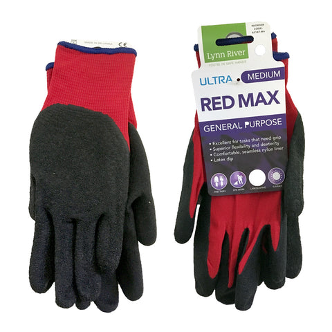 Gardening Gloves Red Max Latex