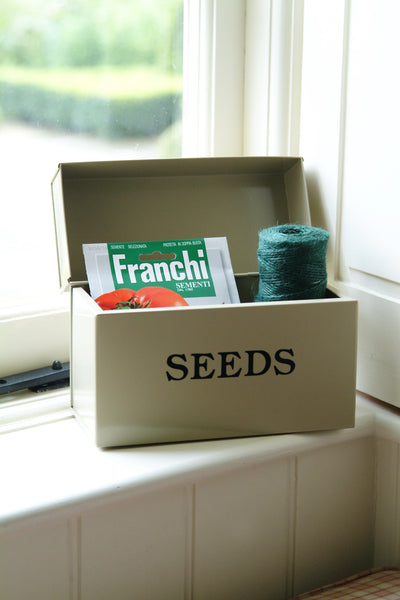 Seed Storage Tin ~ Large