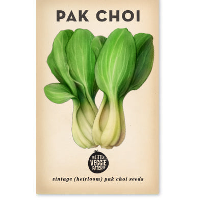 Pak Choi 'Green' Heirloom Seeds