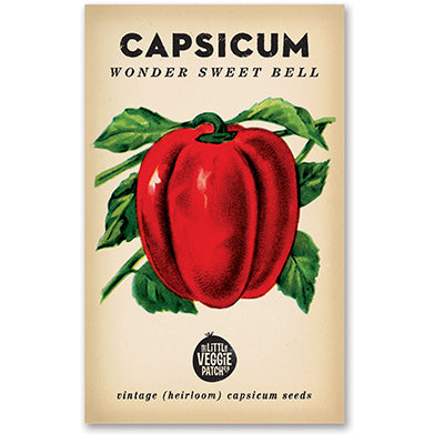 Capsicum 'Wonder Sweet Bell' Heirloom Seeds