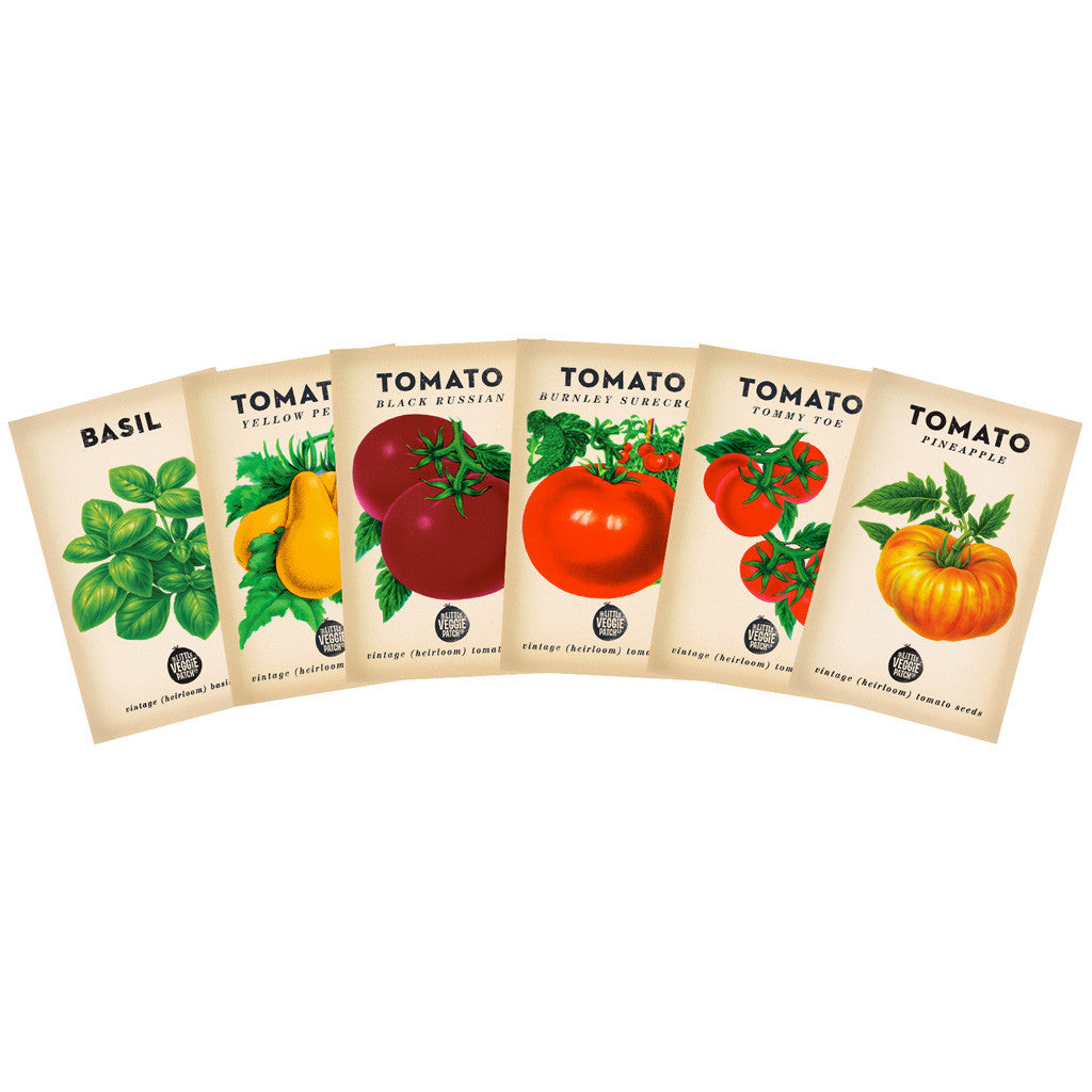Heirloom tomato seed gift pack the little veggie patch co heirloom tomato seed gift pack negle Images