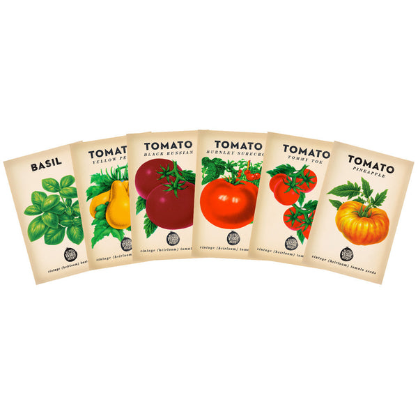 Tomato Heirloom Seed Gift Pack + Basil