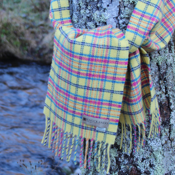 Children's Buttercup Check Scarf