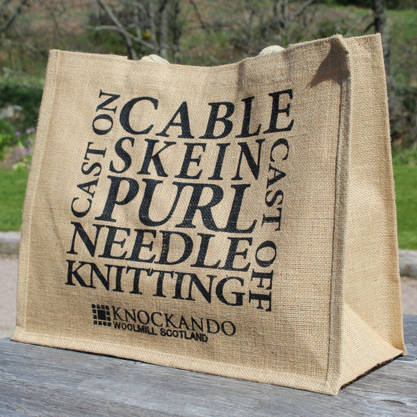 Knitting Jute Bag