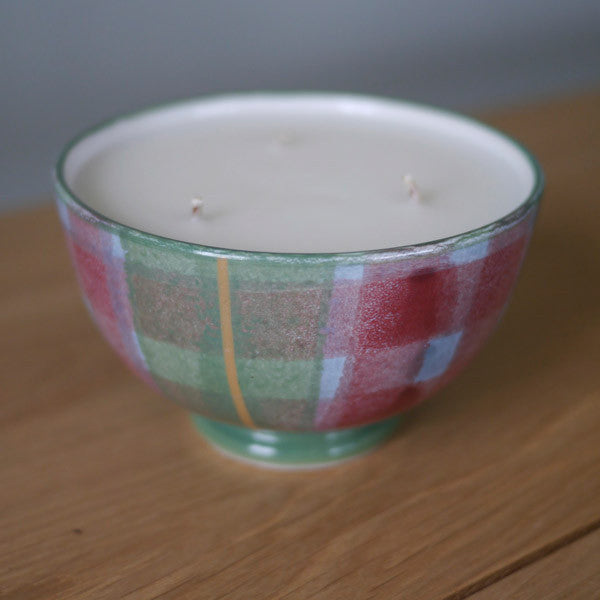 Scottish woolmill Tartan Candle Bowl