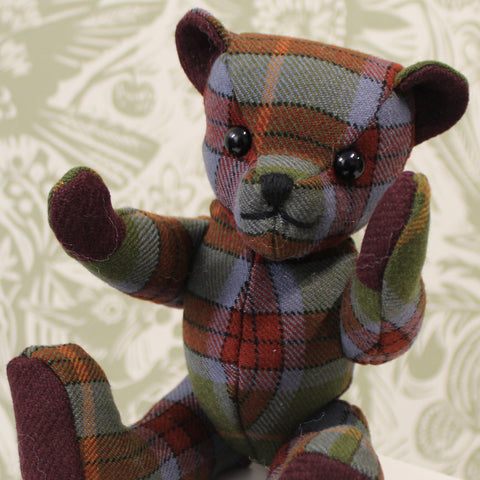 Woolmill Tartan Teddy Bear Worsted