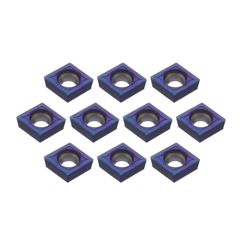 10Pcs HRC45 Blue Nano CCMT09T304 VP15TF Insert for SCLCR/SCLCL Tool Holder