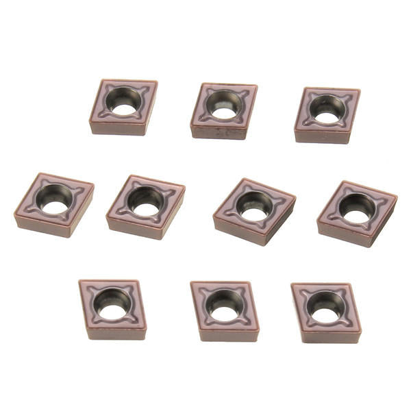 Metalworking Metal CNC Lathe Tools tooling  turning tool Holder Boring Bar Threading index Coating: CVD Tin Al2O3 TICN 10pcs CCMT060204 LF6018 Carbide Inserts Blade