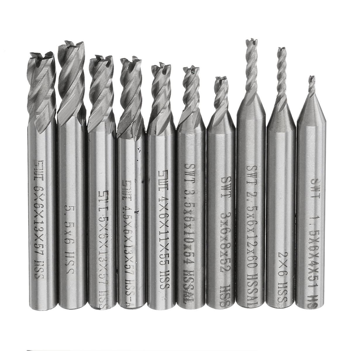 75 mm Length 43 mm Cutting Length 4.1 mm Cutting Diameter SGS 61076 101 Slow Spiral Drills Uncoated