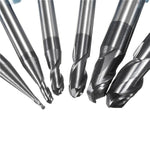 R0.5-3mm HRC45 2 Flutes Ball Nose End Mill Nitrogen Coated Milling Cutter Set CNC Tool