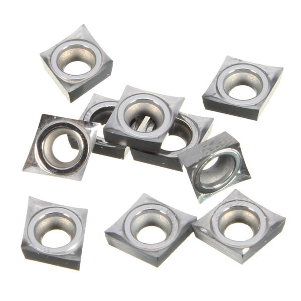 10pcs CCGT060204-AK H01 Inserts CNC Turning Tool Inserts Used for Aluminum