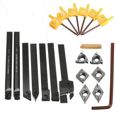 Metalworking Metal Lathe Accessory Tool Kit Tooling Tool Boring Bar Holder  Model: MGEHR1010-2 / SER1010H11 / SCLCR1010H06 / SDJCR1010H07 /  SDNCN1010H07 / S10K-SCLCR06 / SNR0010K11
