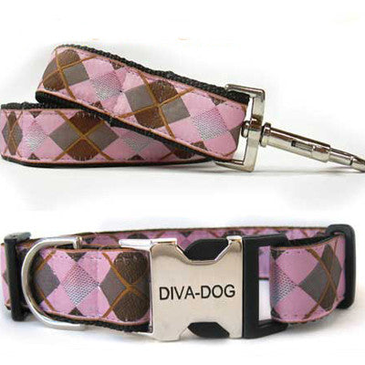 Argyle Dog Collar & Leash