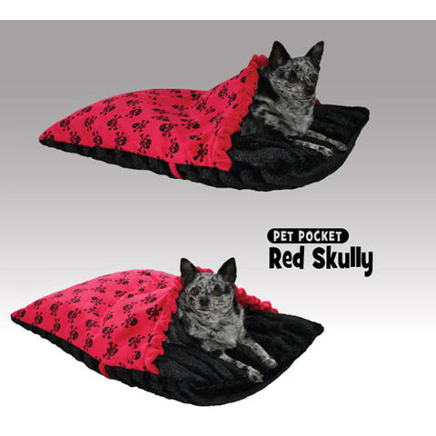 Skully Pet Pocket - Red