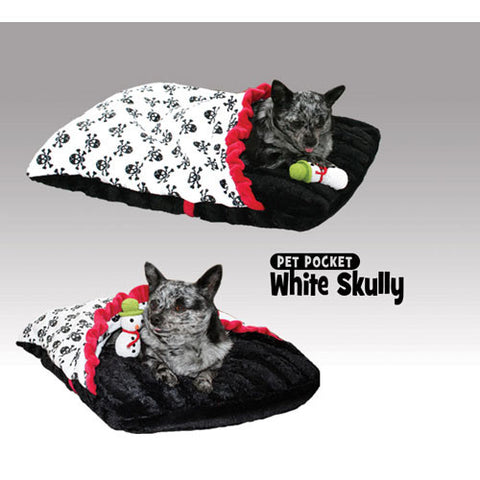 Skully Pet Pocket - White