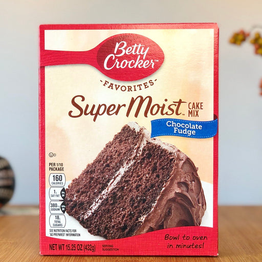 Betty Crocker Super Moist Cake Mix - Chocolate Fudge aus Amerika