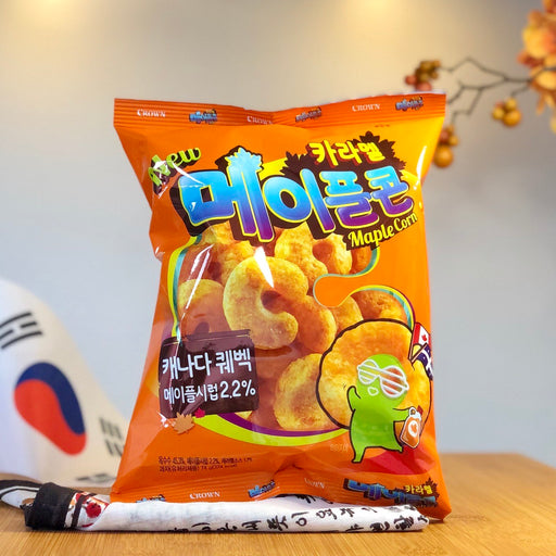 Caramel Maple Corn Chips aus Korea