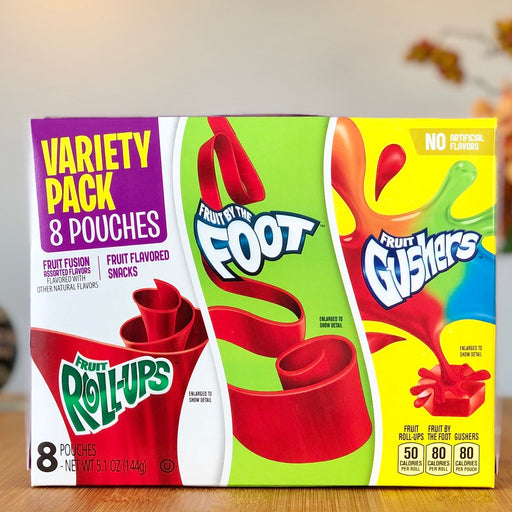 Fruit Roll-Ups, Fruit by the Foot, Fruit Gushers Variety Pack au Amerika
