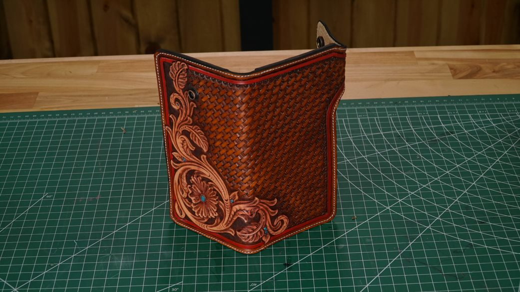 Tandypro Biker Wallet Template Instructions By Collin Williams Tandy Leather Inc