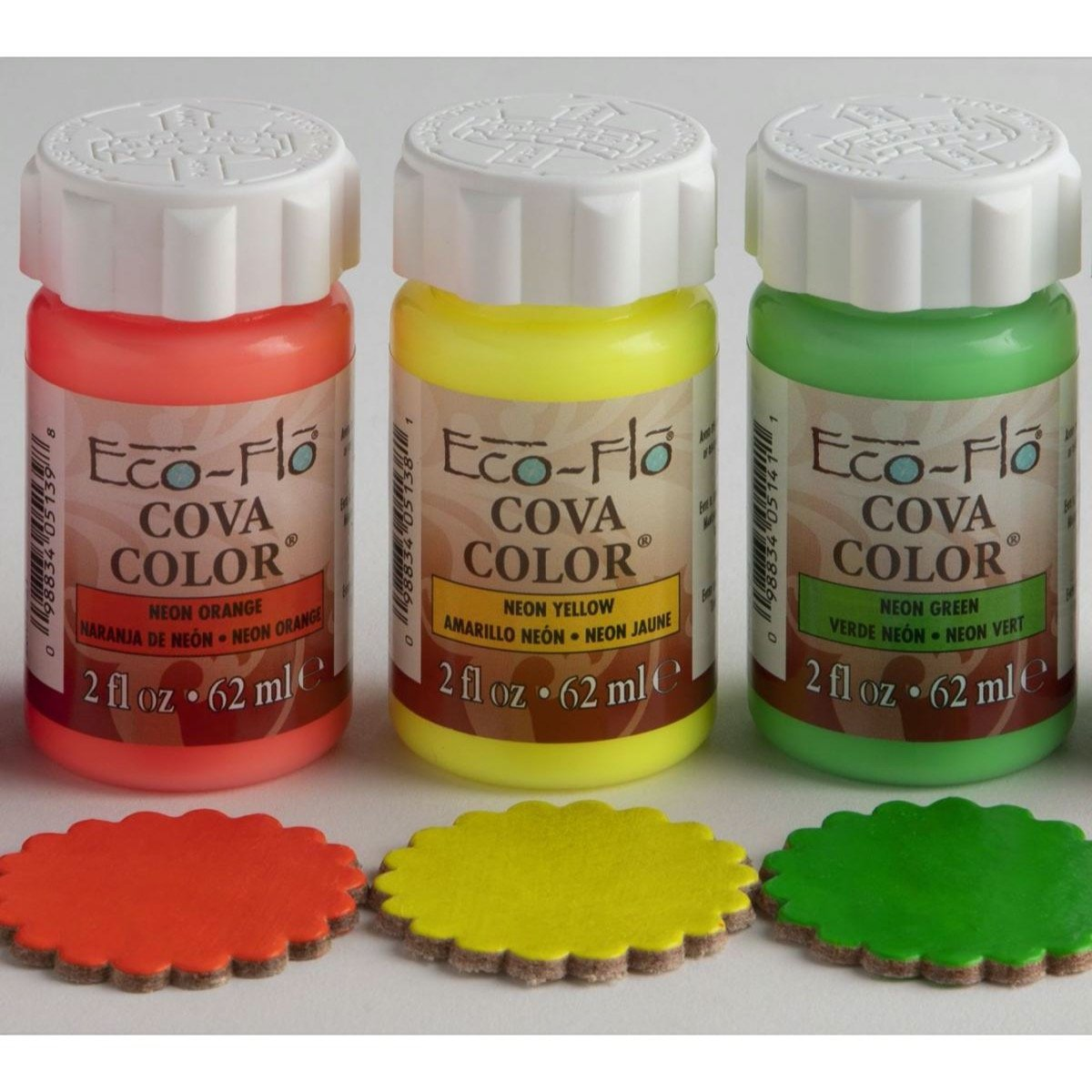 Assorted Set Of 3 Eco-Flo Cova Neon Colors
