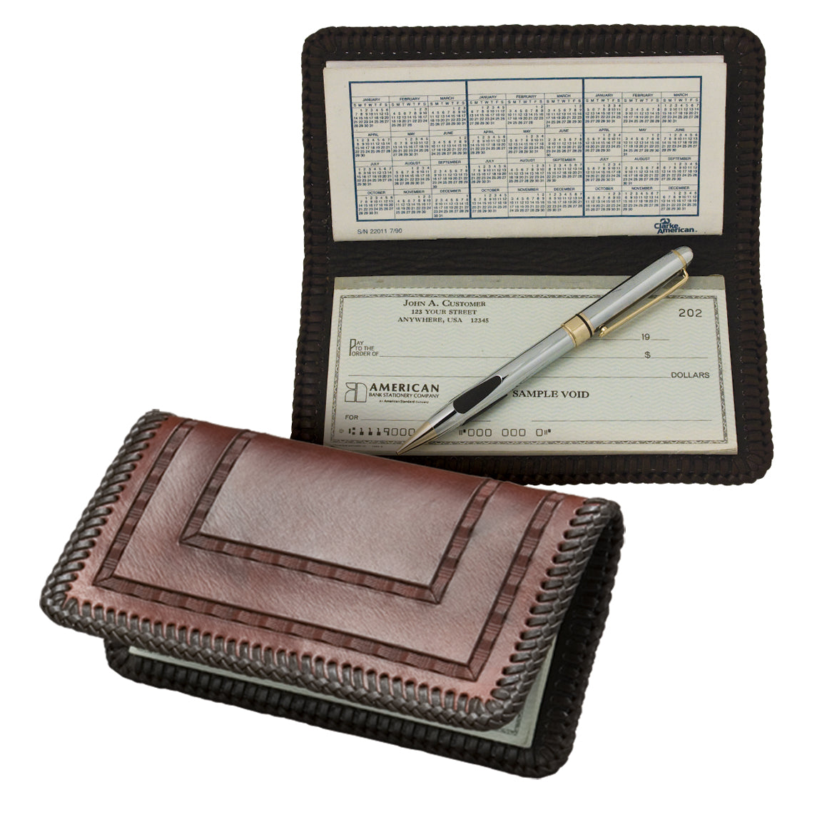 Checkbook Cover Leather Only - 10 Pack