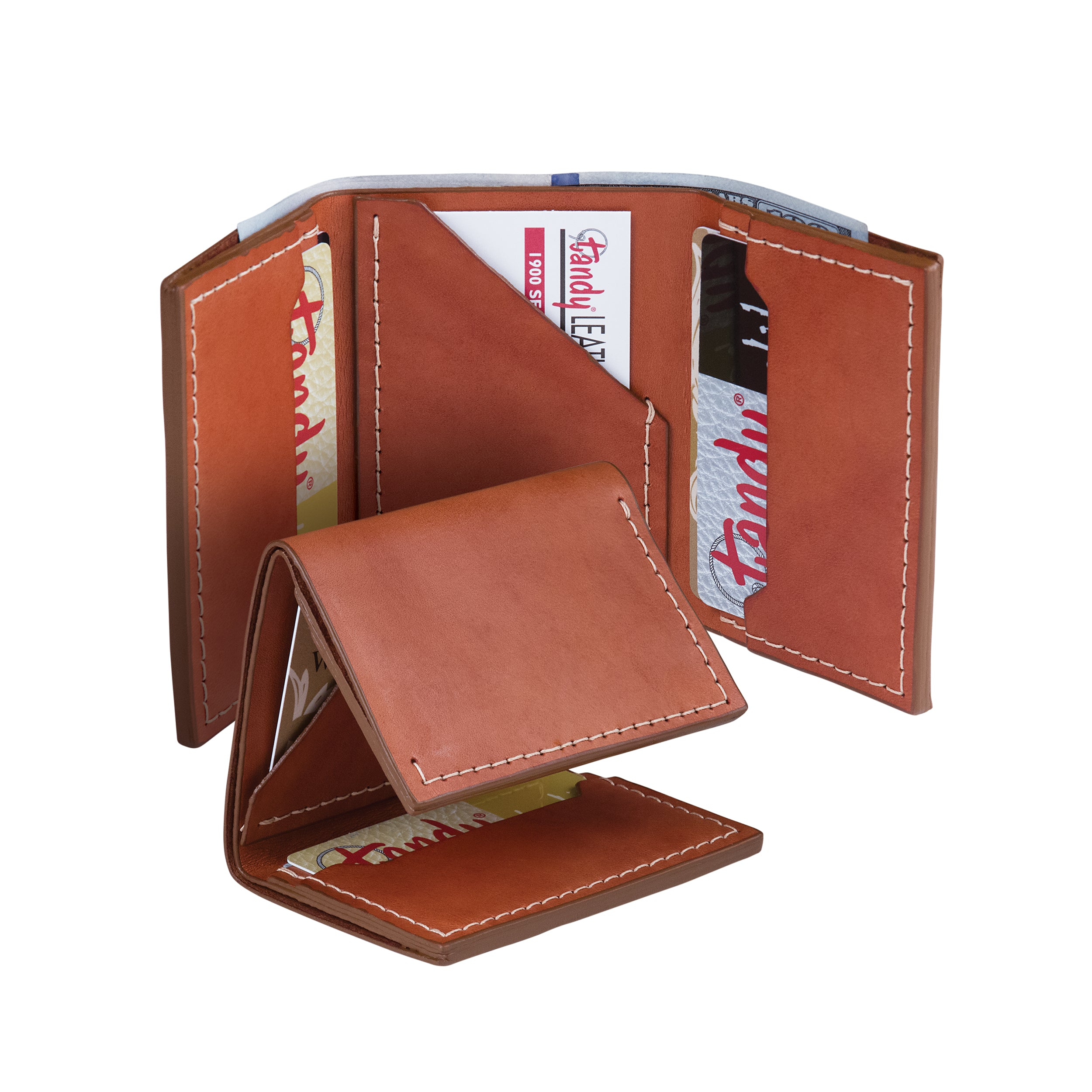 Classic Tri-Fold Wallet Leather Only - 10 Pack