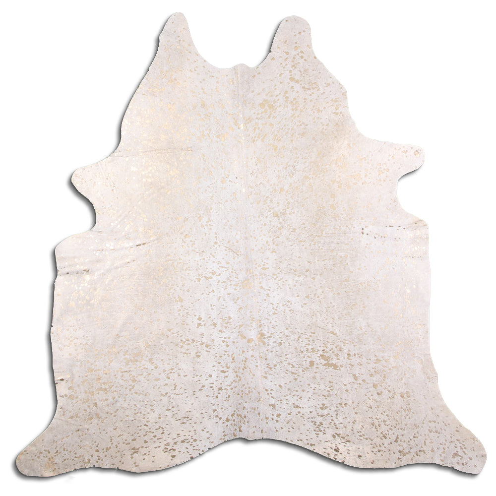Hair-On Cowhide Rug - Acid Wash Gold & Beige
