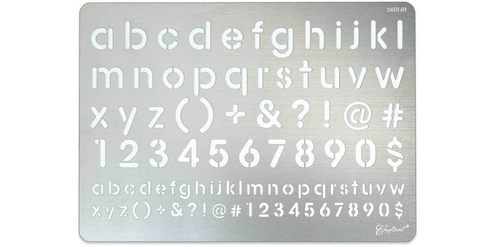 Craftool® Stainless Steel Stencil #1