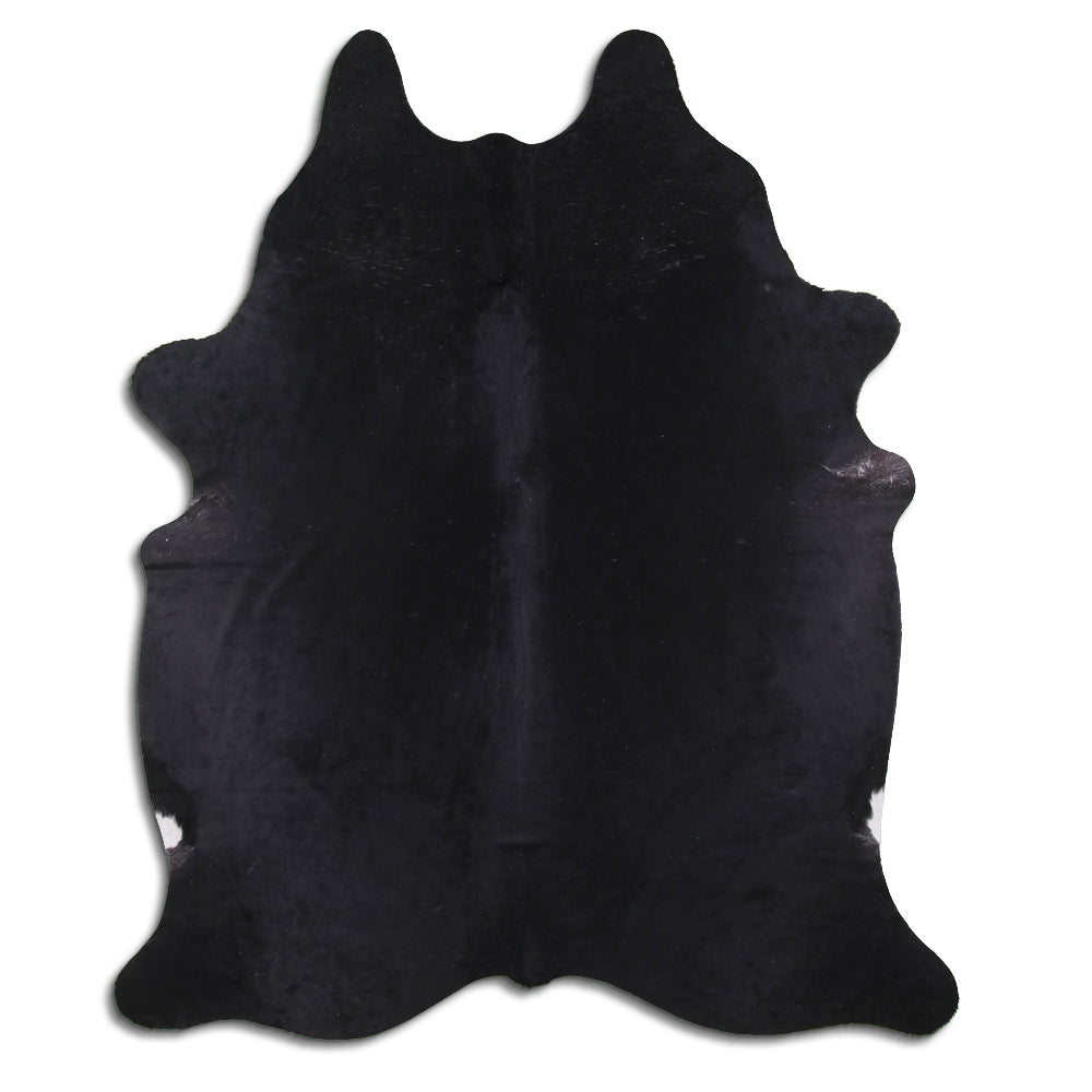 Luxe Hair-On Cowhide Rug Black