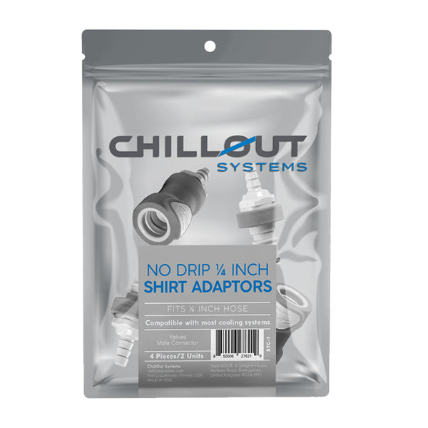 Chillout Systems No Drip 1/4th Inch Shirt Adaptors Package Pouch Image
