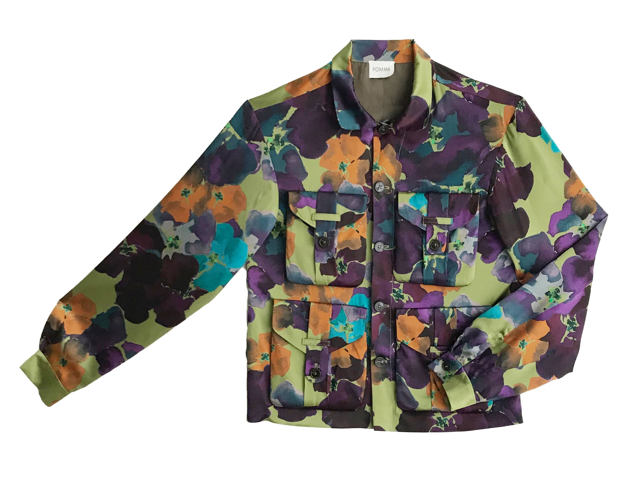 Work Jacket - Flower Print
