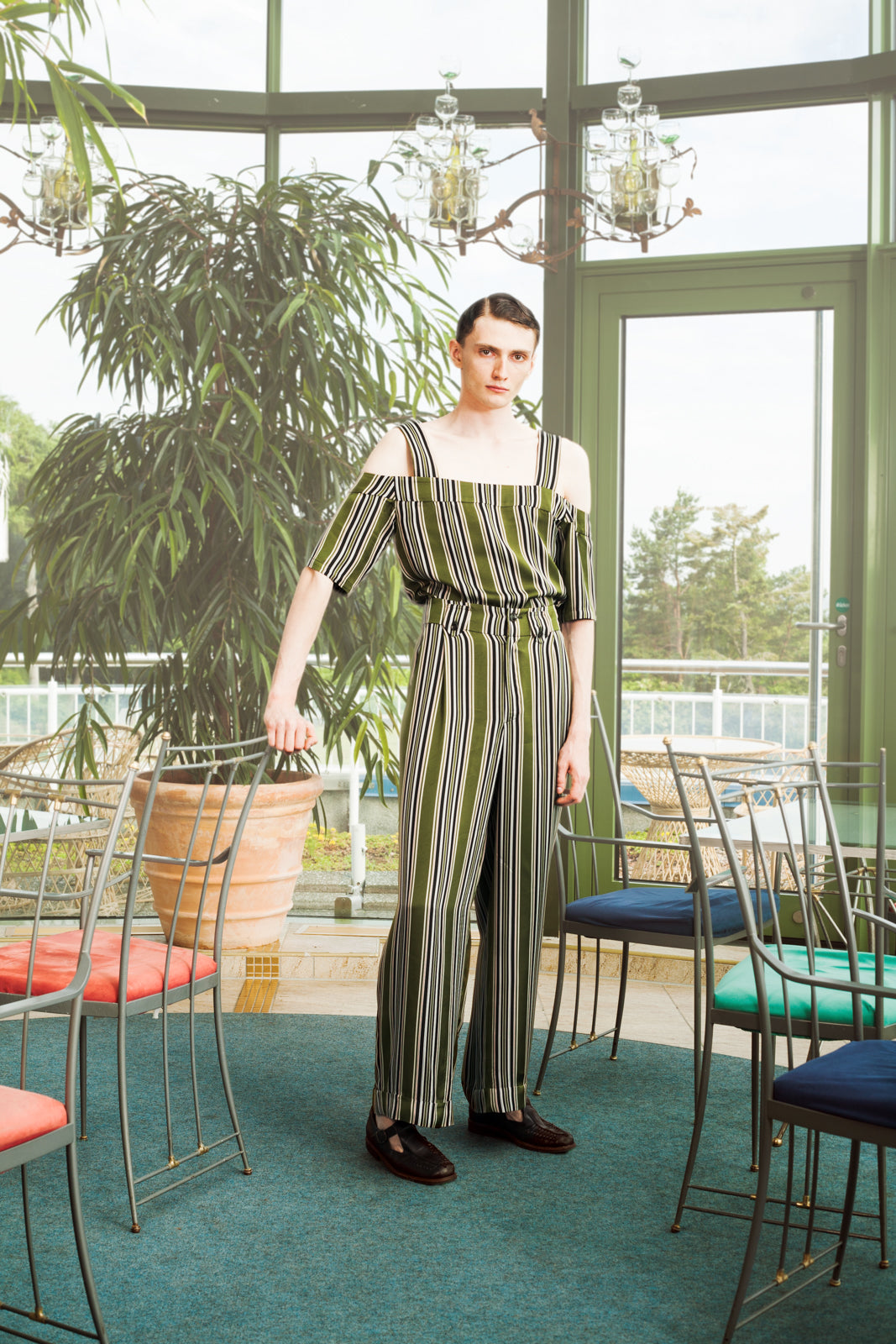 High Waisted Pleated Trousers