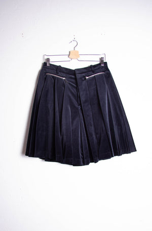 Pleated Trousers Velvet Skirt