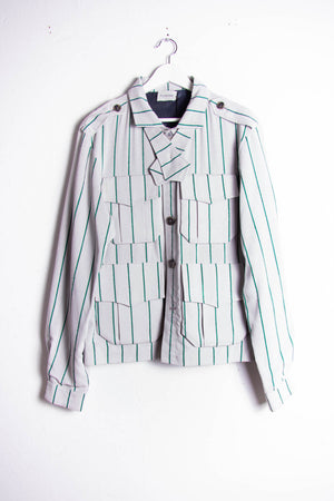 Green Stripes Work Jacket
