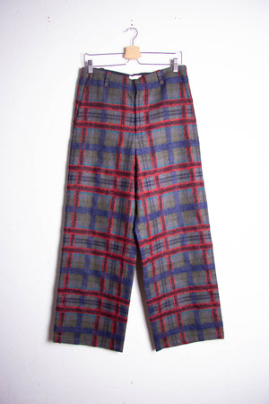 Checked Pipe Trousers