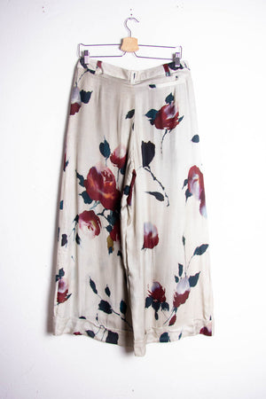 Silk Flower Trousers