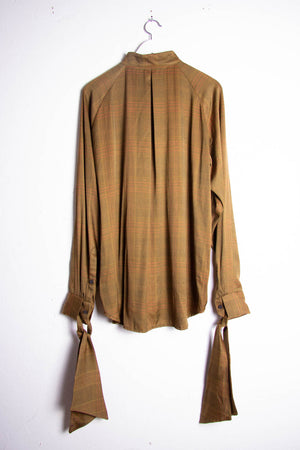 Golden Ckecked Bow Shirt