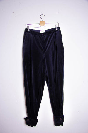 Gathered Velvet Trousers