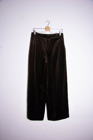 Velvet Embroidery Trousers