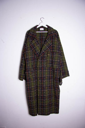 Trench Coat green checked