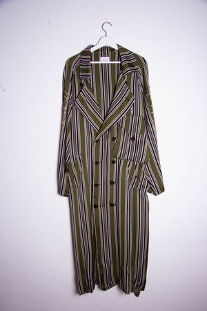 Trench Coat Green Stripes