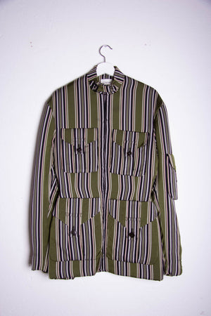 Bar Jacket Green Stripes
