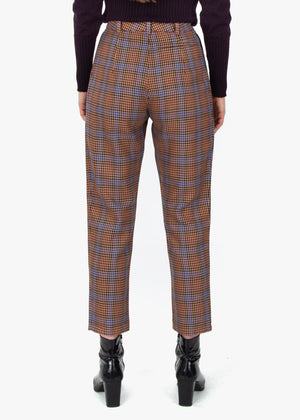 Pleated Trousers - Houndstooth