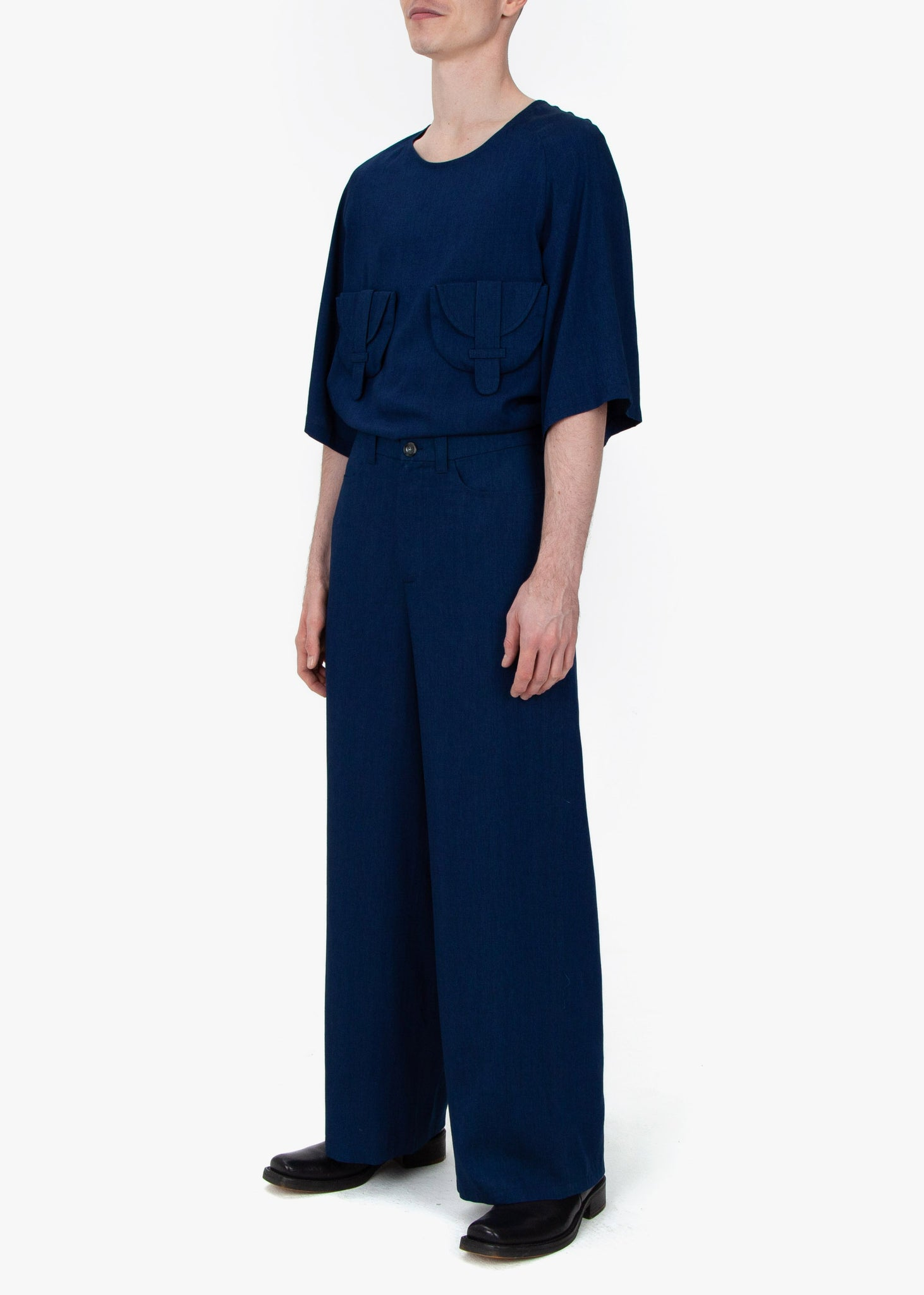 Wide Trousers - Blue