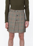 Button Trouser Skirt - Checked
